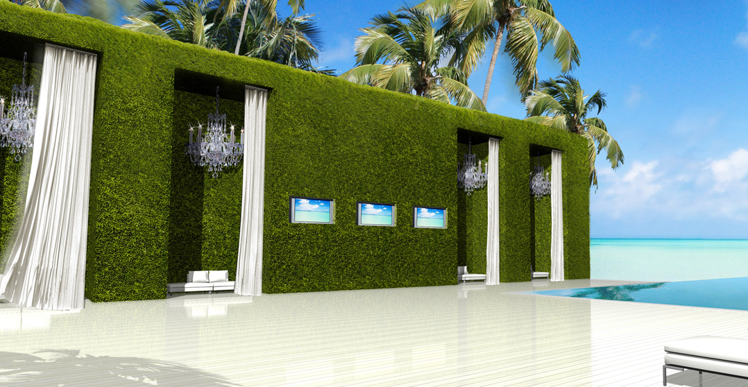 Beach Pool and Cabanas